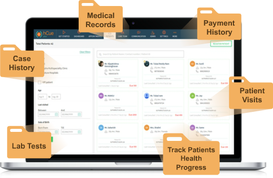 hCue's Dental Software - Patient Management